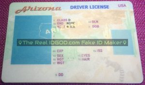 Arizona fake id template made by IDGod creating premium ids