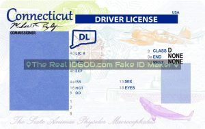 Connecticut fake id template background design