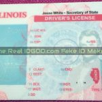 Illinois fake id template printed background card