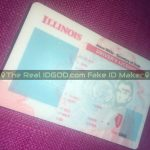 Illinois fake id template hologram design is an identical clone vs real Illinois id card