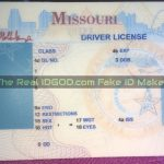 Missouri fake id template made by IDGod identical background compared to the real id card
