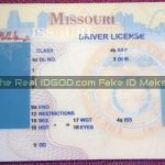 Missouri fake id template printed background made by IDGod