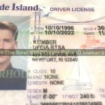 Rhode Island fake id card showing identical to real holograms.