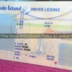 Rhode Island printed fake id template background identical vs real