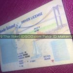 Rhode Island fake id template designed by IDGod used to produce identical to real id cards