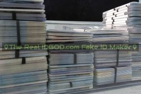 Groups of customer state fake ids ready to be shipped out