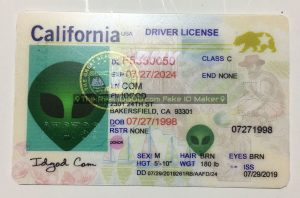 California scannable fake id card made by IDGod.