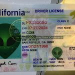 California fake id card perforated design made by IDGod.
