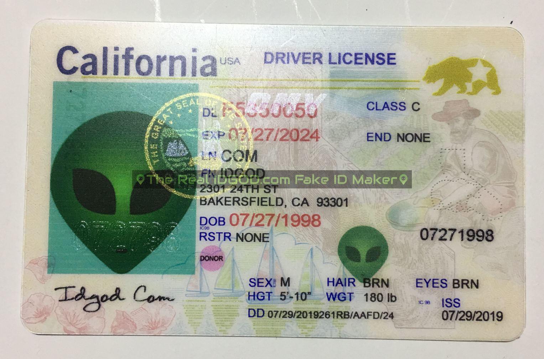 California fake id card made by IDGod