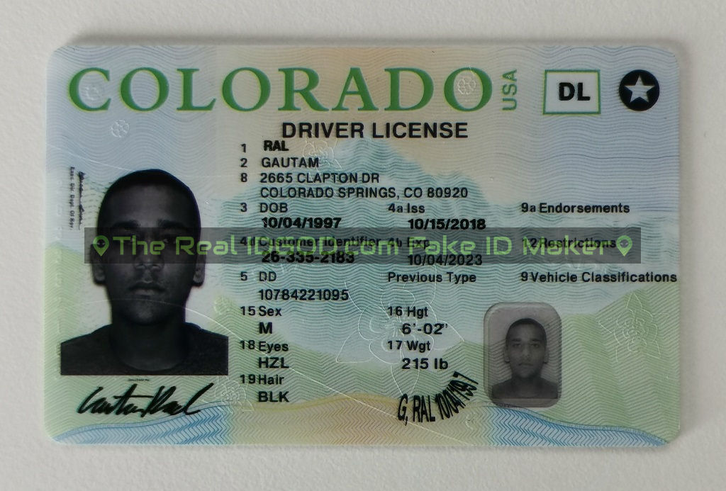 Colorado fake id made by IDGod
