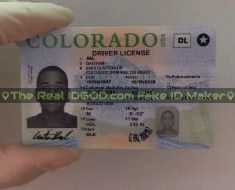 Image of a Colorado fake id in the video made by IDGod