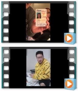 Customer submitted video reviews of their fake id cards