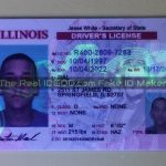 Illinois fake id UV design glows identical to real under blacklight