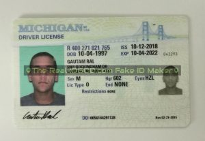 Michigan fake id card made by IDGod