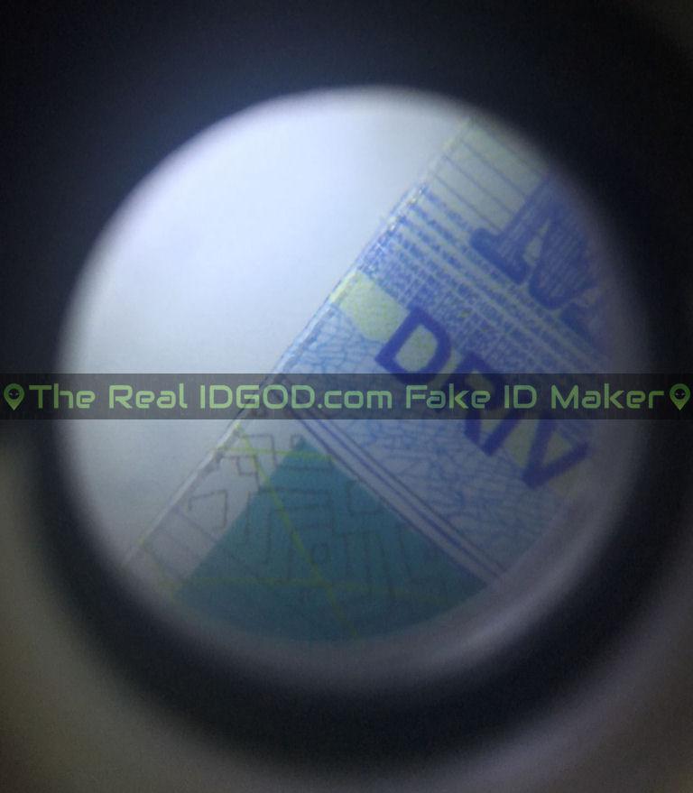 Michigan fake id card microprint design