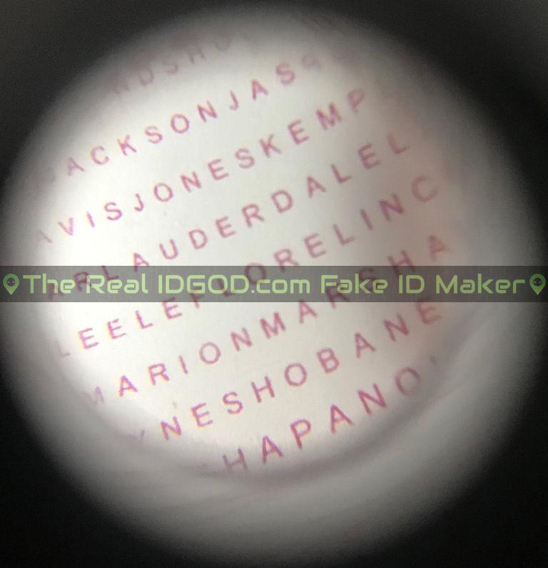 Mississippi fake id card microprint design