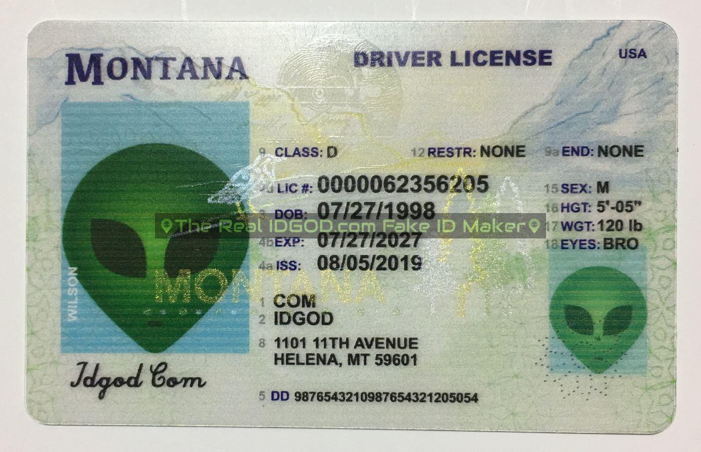Montana Fake ID