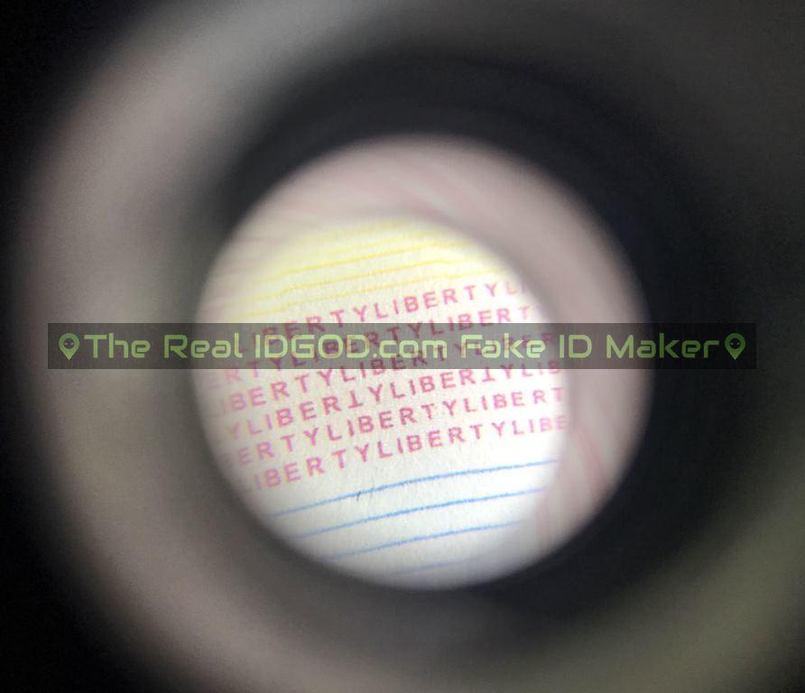 Pennsylvania fake id card microprint design
