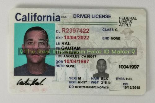 California fake id card video snapshot made by IDGod.