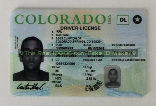 Colorado fake id card video snapshot made by IDGod.