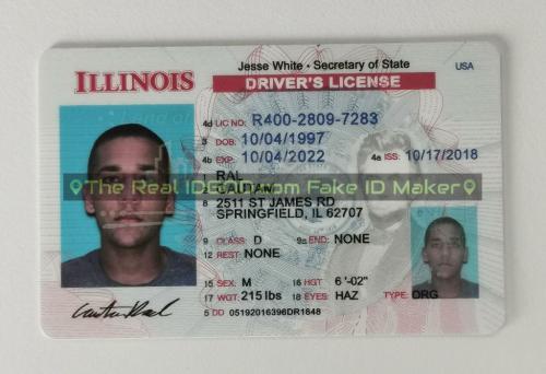 Illinois fake id card video snapshot made by IDGod.