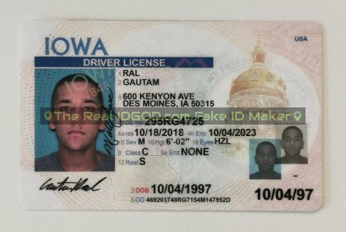 Iowa fake id card video snapshot made by IDGod.