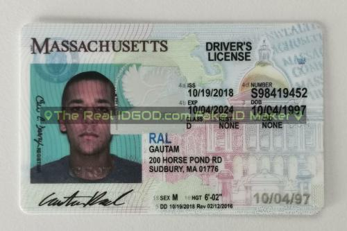 Massachusetts fake id card video snapshot made by IDGod.