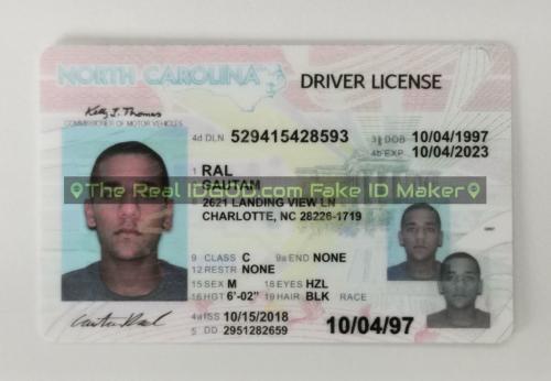 North Carolina fake id card video snapshot made by IDGod.