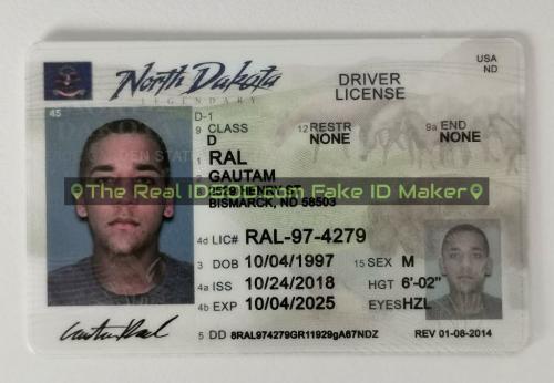 North Dakota fake id card video snapshot made by IDGod.