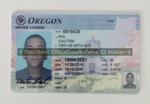 Oregon fake id card video snapshot made by IDGod.