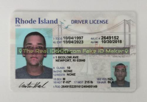 Rhode Island fake id card video snapshot made by IDGod.