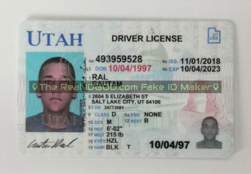 Utah fake id card video snapshot made by IDGod.