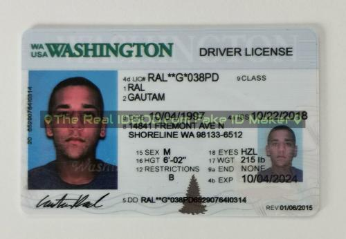 Washington fake id card video snapshot made by IDGod.