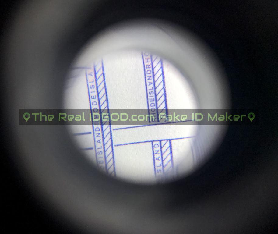 Rhode Island fake id card microprint design