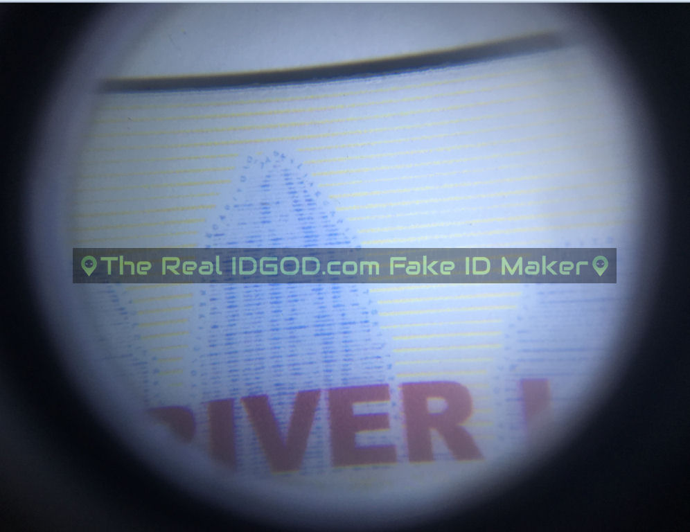 Texas fake id card microprint design