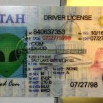 Utah fake id perforated design appears with directed light to the back of card made by IDGod.