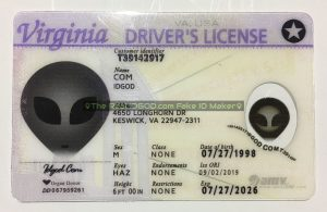 Virginia fake id made by IDGod.