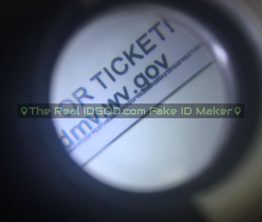 West Virginia fake id card microprint design
