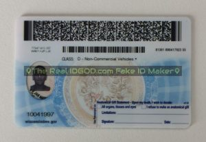 Wisconsin scannable fake id encoded barcodes made by IDGod